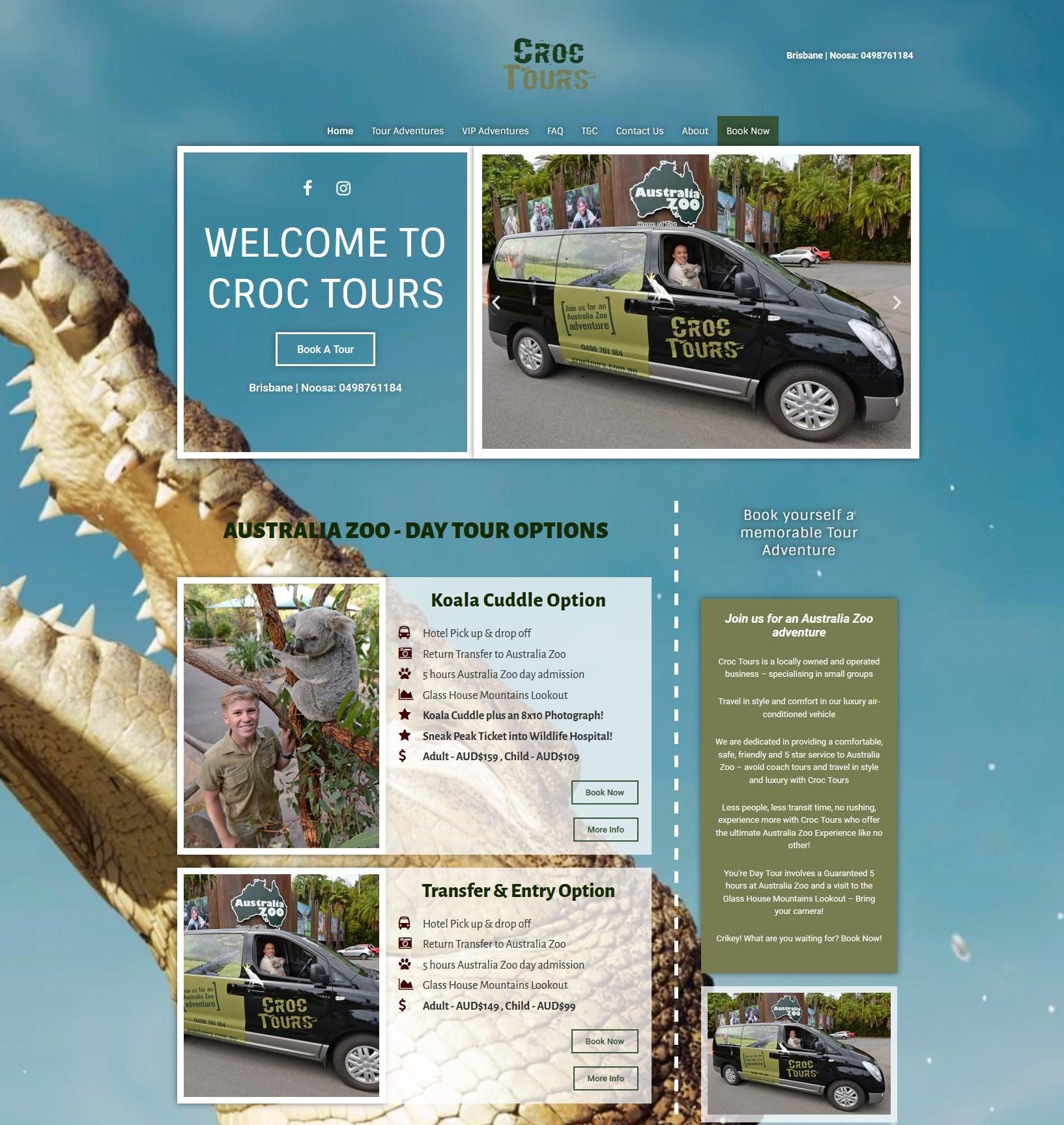 croctours geelong wordpress designer - Design