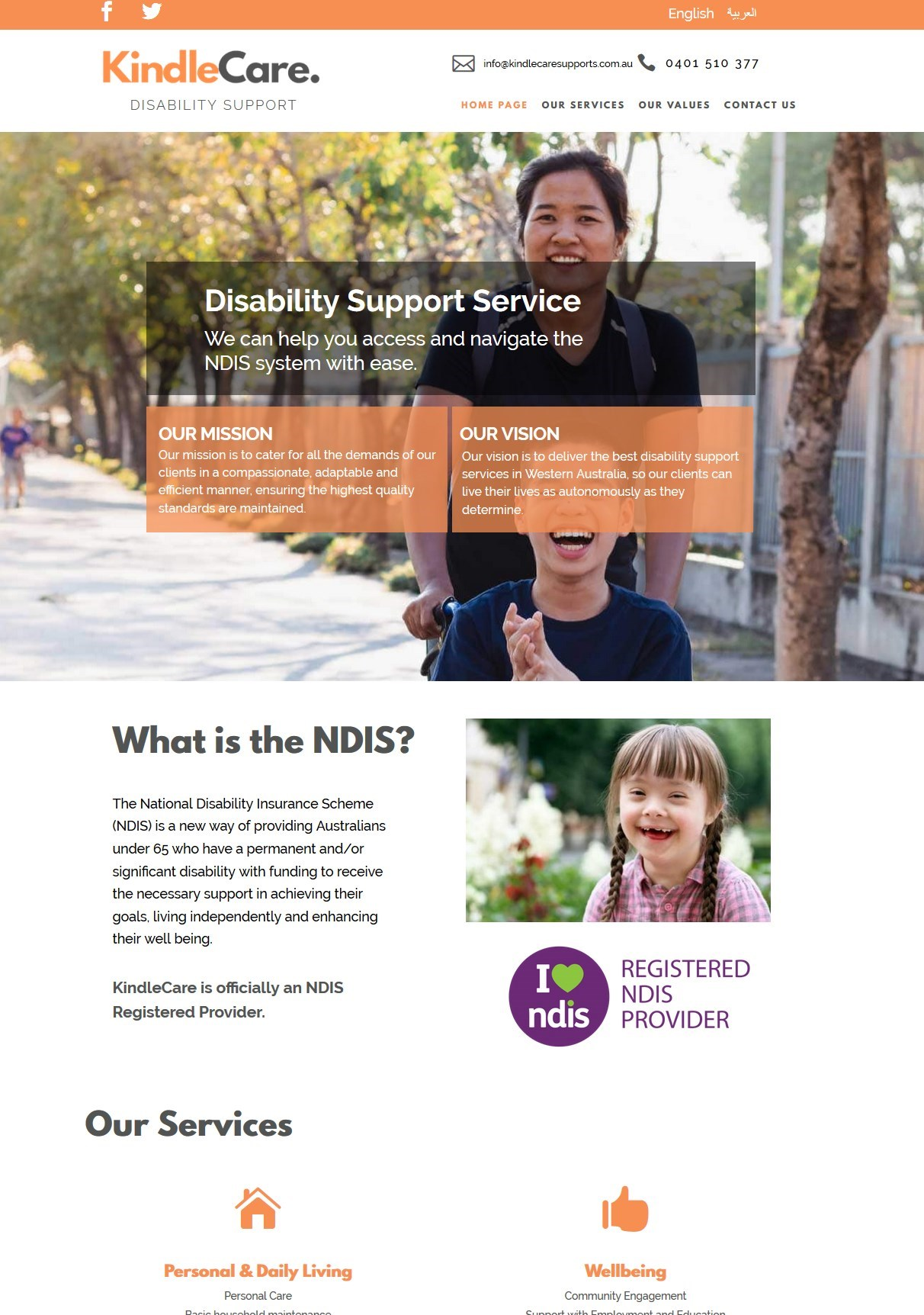 kindlecare webdesign project - Design