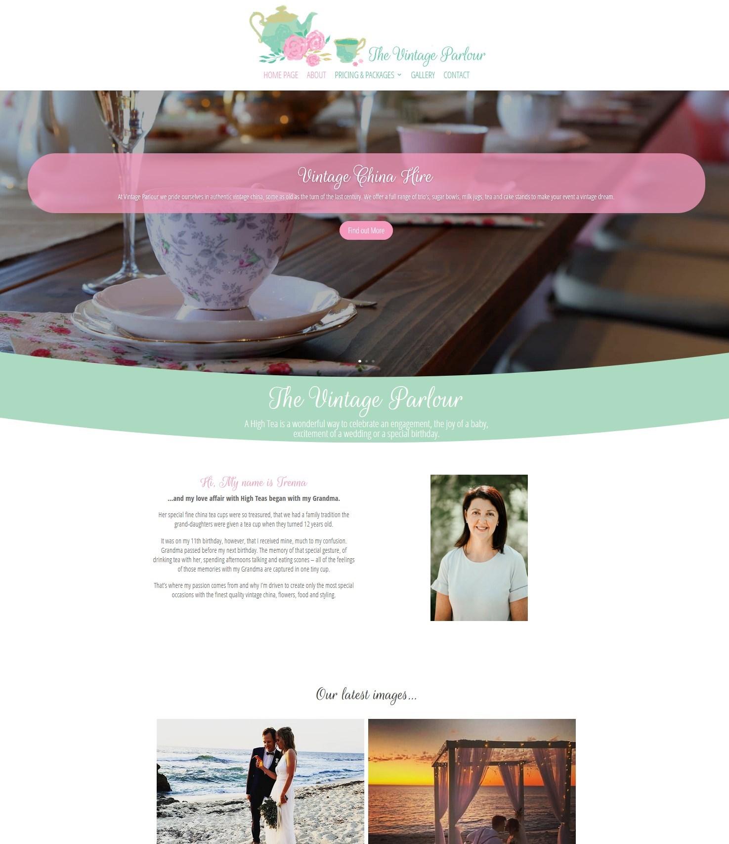 vintage parlour web design - Design